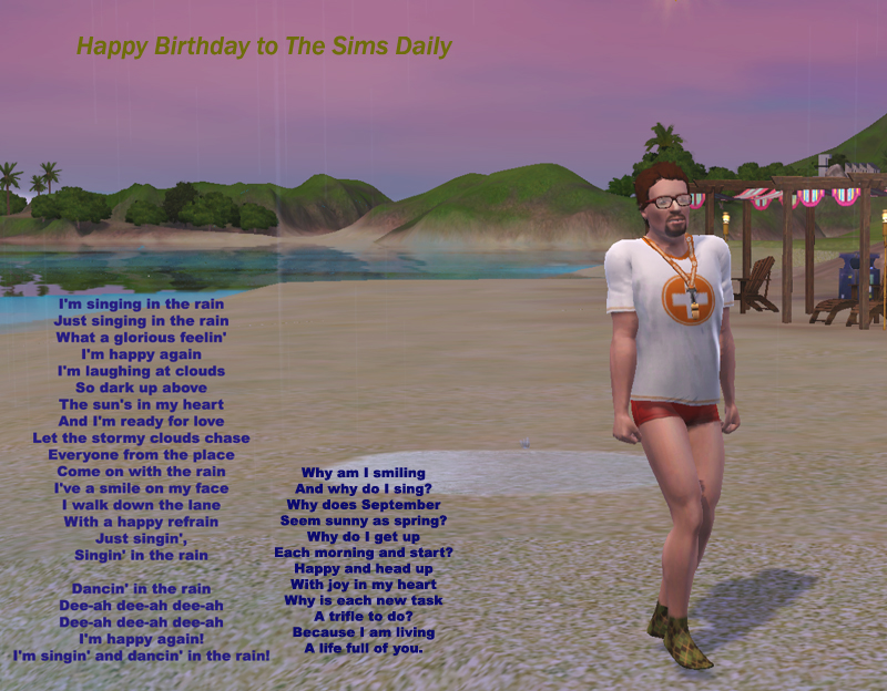 Doug and Sita wish the Sims Daily Forum a Very Happy Birthday!